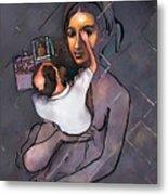 Man Painting Woman Metal Print