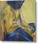Man Reading Metal Print