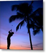 Man Swinging Driver Metal Print
