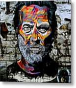 Man With Colourful Face Metal Print