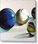 Man With Glass Balls  Metal Print