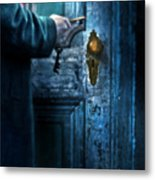 Man With Keys At Door Metal Print