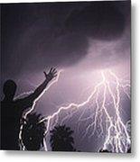 Man With Lightning, Arizona Metal Print
