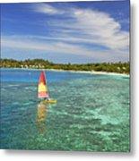 Mana Island Lagoon Metal Print