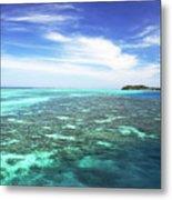 Mana Island Waters Metal Print