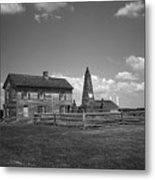 Manassas Battlefield Farmhouse 2 Bw Metal Print