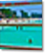 Manatee Beach Pier 360 Degrees Metal Print
