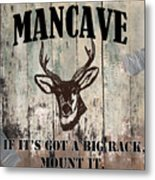 Mancave Deer Rack Metal Print