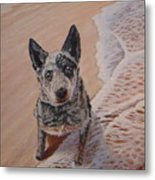 Mancha At The Beach Metal Print