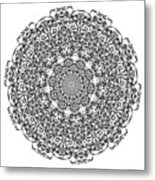 Mandala - Amulet 869 For Those Born In ..... Metal Print