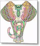 Mandala Elephant Psicodelic Metal Print