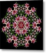 Mandala Monadala  Lisa Metal Print