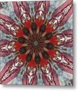 Mandala Of Glass Metal Print