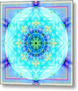Mandala Of Womans Spiritual Genesis Metal Print