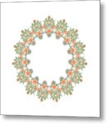 Mandala/photoart Orange Flowers-1 Metal Print