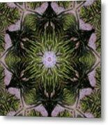 Mandala Sea Sponge Metal Print