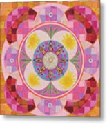 Mandala - Seeds Metal Print