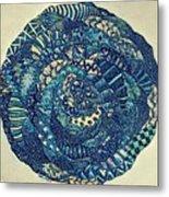 Mandala Tangled Digital Metal Print