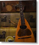 Mandolin And Suitcases Metal Print
