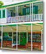 Mangia Mangia Pasta Market And Cafe On Key West Florida Metal Print