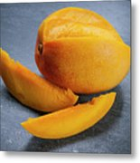 Mango And Slices Metal Print