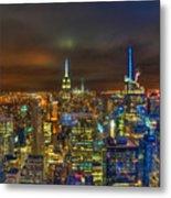 Manhattan At Night 355 Metal Print