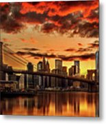 Manhattan BBQ Metal Print