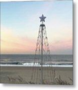 Manhattan Beach Christmas Star Metal Print