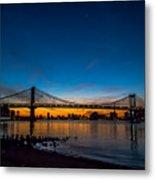 Manhattan Bridge At Dawn Metal Print