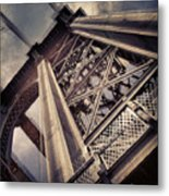 Manhattan Bridge From Below Metal Print