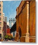 Manhattan Bridge From  Front Street, Brooklyn Metal Print