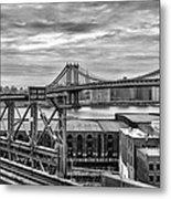 Manhattan Bridge Metal Print by John Farnan