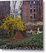 Manhattan Community Garden Metal Print