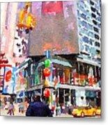 Manhattan Crossroads Metal Print