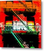 Manhattan Fire Escape Metal Print