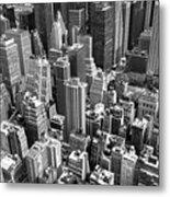 Manhattan In Monochrome. Metal Print