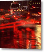 Manhattan Night Metal Print