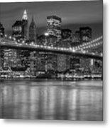 Manhattan Night Skyline Iv Metal Print