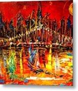 Manhattan Red Metal Print
