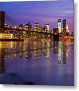 Manhattan Reflection Metal Print