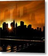 Manhattan Silhouette Metal Print by Svetlana Sewell