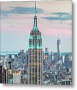 Manhattan Skyline Panoramic, New York City, Usa Metal Print