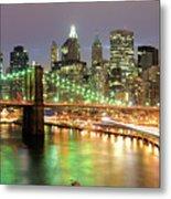 Manhattan Skyline Metal Print by Sean Pavone