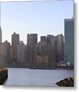 Manhattan Skyline - The View From Gantry Plaza State Park Metal Print