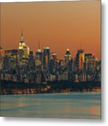 Manhattan Twilight I Metal Print