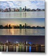 Manhattanhenge View From Across East River Metal Print by Sasha Karasev