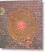 Manhole Mandala Metal Print