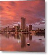 Manila At Sunset Metal Print