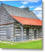 Manistique Schoolcraft County Museum Log Cabin -2158 Metal Print