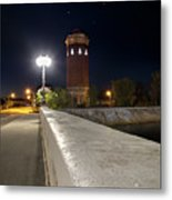 Manistique Water Tower Big Dipper -2293 Metal Print